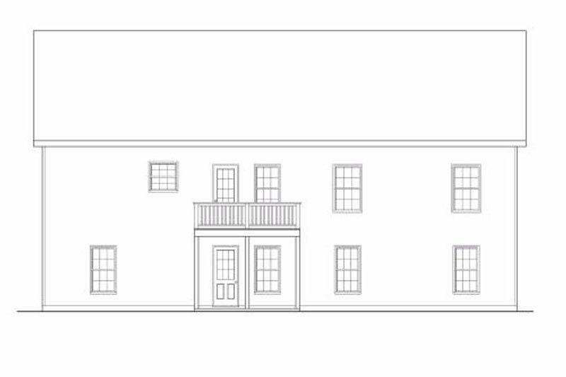 Traditional Exterior - Rear Elevation Plan #419-173 - Houseplans.com