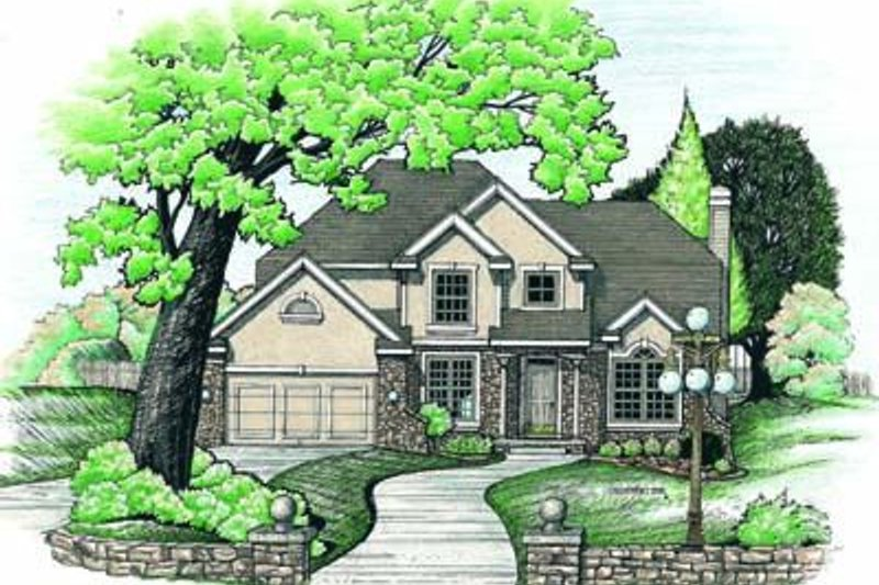 Traditional Exterior - Front Elevation Plan #20-828 - Houseplans.com