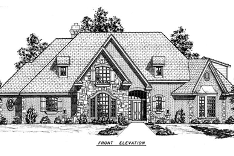 European Exterior - Other Elevation Plan #52-139 - Houseplans.com