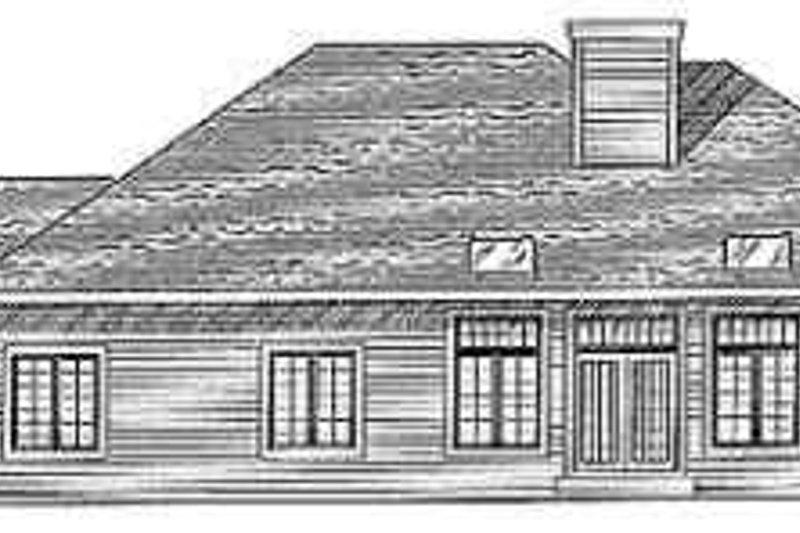 Traditional Exterior - Rear Elevation Plan #70-355 - Houseplans.com