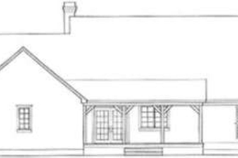 Country Exterior - Rear Elevation Plan #406-152 - Houseplans.com