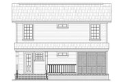 Traditional Style House Plan - 3 Beds 2 Baths 1200 Sq/Ft Plan #21-225 Exterior - Rear Elevation