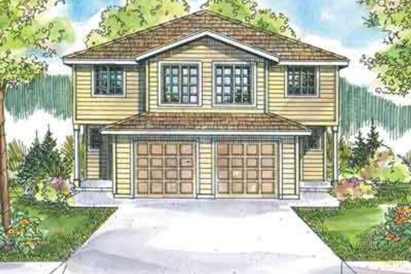 Traditional Exterior - Front Elevation Plan #124-571 - Houseplans.com