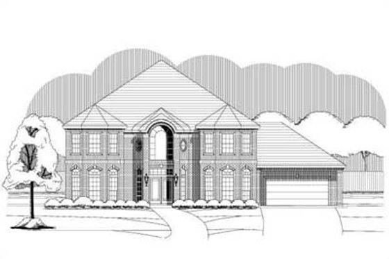 Traditional Exterior - Front Elevation Plan #411-188