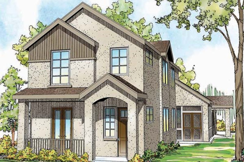 Cottage Exterior - Front Elevation Plan #124-868 - Houseplans.com