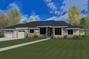 Modern Style House Plan - 5 Beds 3.5 Baths 3756 Sq/Ft Plan #920-41 Exterior - Front Elevation