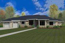 Modern Exterior - Front Elevation Plan #920-41
