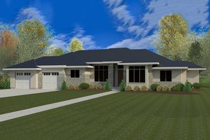 Modern Exterior - Front Elevation Plan #920-41