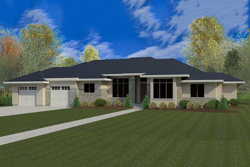 Dream House Plan - Modern Exterior - Front Elevation Plan #920-41