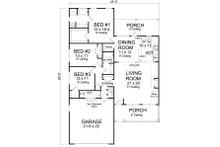 Cottage Floor Plan - Main Floor Plan Plan #513-2082