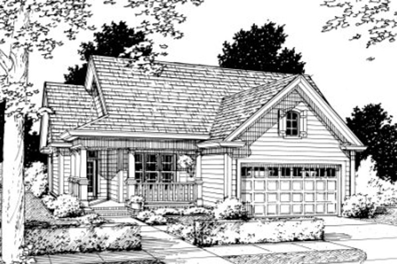 Country Exterior - Front Elevation Plan #20-348