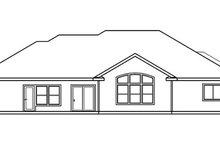 Home Plan - European Exterior - Rear Elevation Plan #124-514