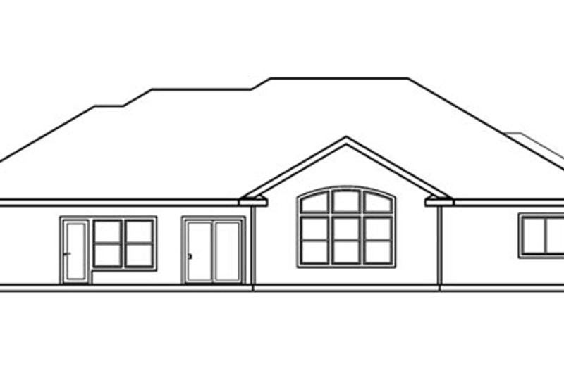 European Exterior - Rear Elevation Plan #124-514 - Houseplans.com