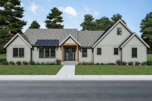 Dream House Plan - Farmhouse Exterior - Front Elevation Plan #1070-117