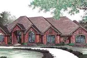 Home Plan - European Exterior - Front Elevation Plan #310-433