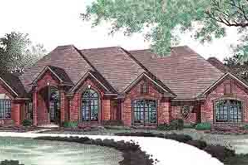 European Exterior - Front Elevation Plan #310-433