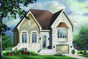 European Style House Plan - 2 Beds 1 Baths 1127 Sq/Ft Plan #23-572 Exterior - Front Elevation