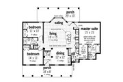 Cottage Style House Plan - 3 Beds 2 Baths 1565 Sq/Ft Plan #45-582 Floor Plan - Main Floor Plan