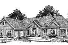 Dream House Plan - Traditional Exterior - Front Elevation Plan #70-511