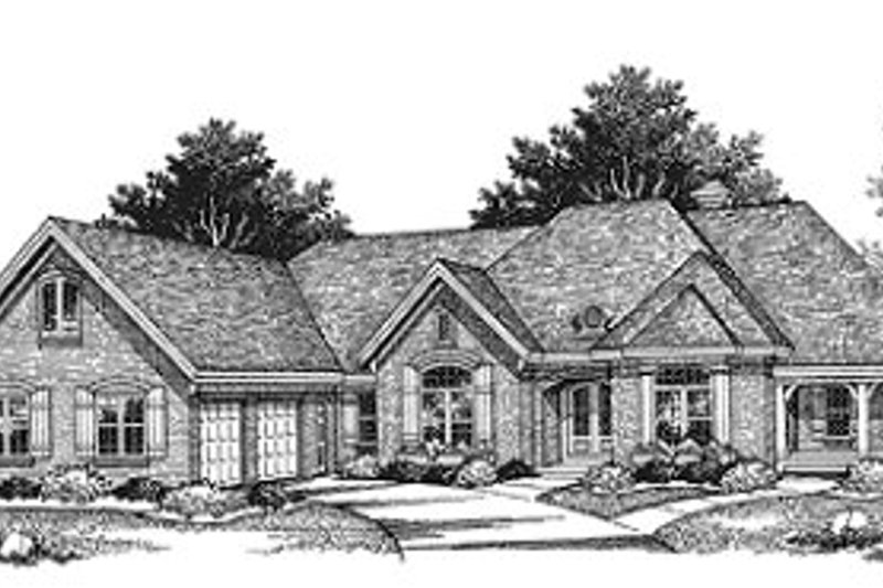 Traditional Exterior - Front Elevation Plan #70-511