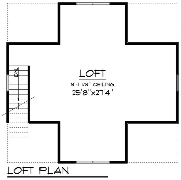 Traditional Floor Plan - Upper Floor Plan Plan #70-1408