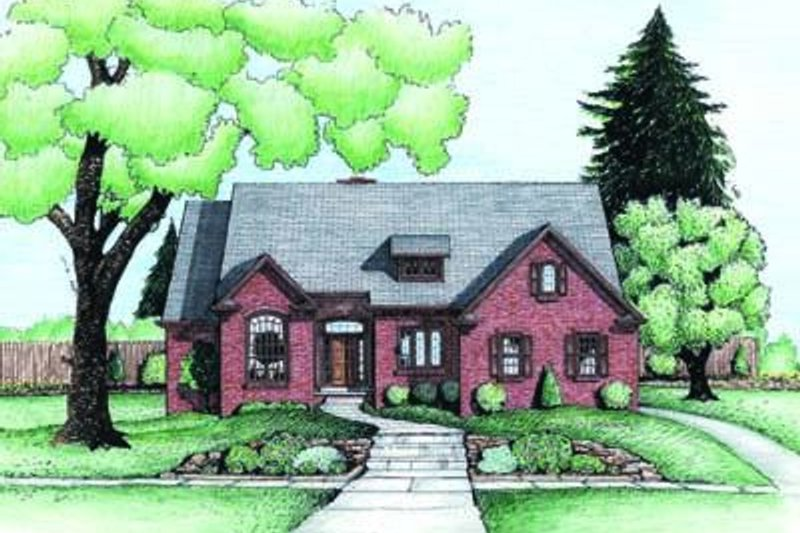Traditional Exterior - Front Elevation Plan #20-954 - Houseplans.com