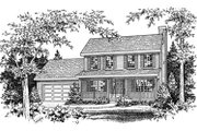 Farmhouse Style House Plan - 3 Beds 2.5 Baths 1680 Sq/Ft Plan #22-202 Exterior - Other Elevation