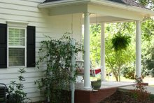Architectural House Design - Country Exterior - Covered Porch Plan #44-155