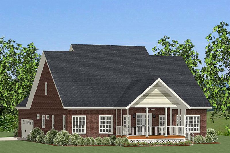 Traditional Exterior - Rear Elevation Plan #898-26 - Houseplans.com