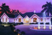 European Style House Plan - 3 Beds 2.5 Baths 2808 Sq/Ft Plan #57-179 Exterior - Front Elevation