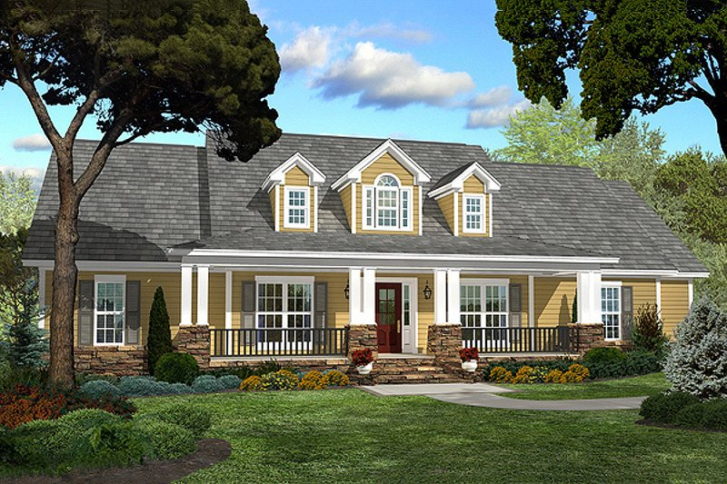 Dream House Plan - Country style Plan 430-47 front elevation