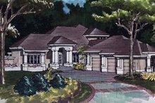 Dream House Plan - Mediterranean Exterior - Front Elevation Plan #320-384