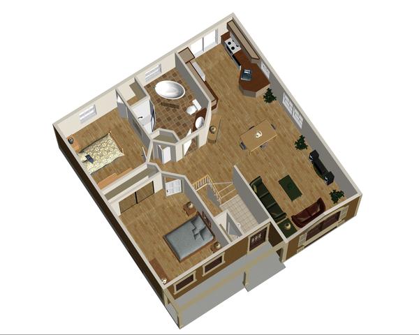 Country Floor Plan - Main Floor Plan Plan #25-4448
