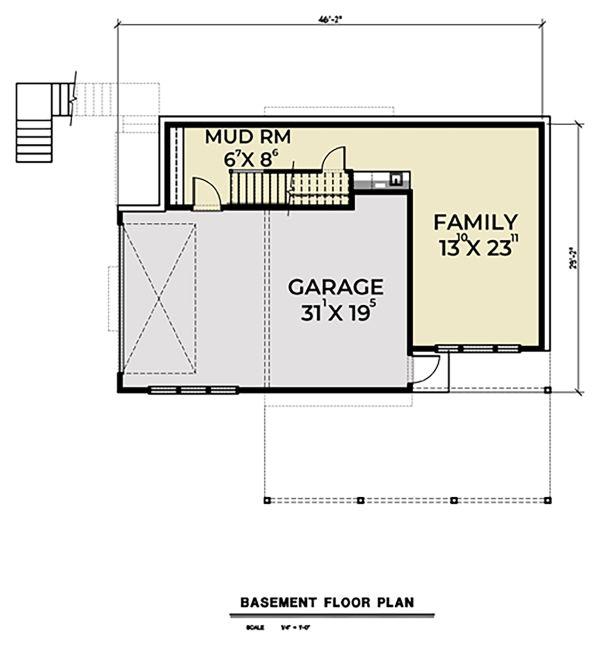 Contemporary Floor Plan - Lower Floor Plan Plan #1070-45