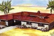 Mediterranean Style House Plan - 3 Beds 2.5 Baths 2377 Sq/Ft Plan #320-417
