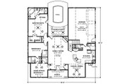 Country Style House Plan - 3 Beds 2.5 Baths 1798 Sq/Ft Plan #56-243 Floor Plan - Main Floor Plan