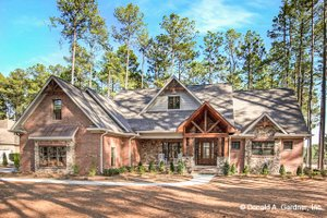 Ranch Exterior - Front Elevation Plan #929-1005