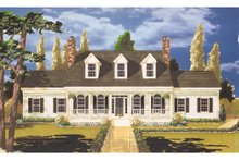 Country Exterior - Front Elevation Plan #3-321