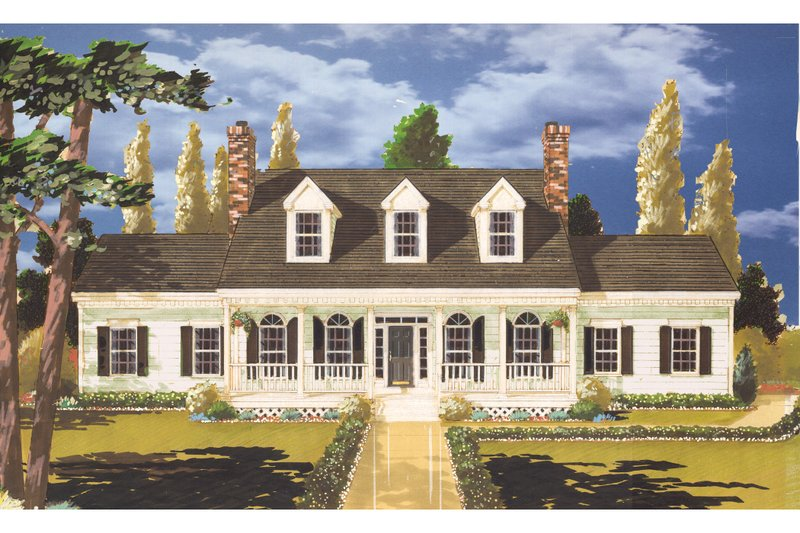 Dream House Plan - Country Exterior - Front Elevation Plan #3-321