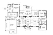 Southern Style House Plan - 4 Beds 3.5 Baths 2765 Sq/Ft Plan #1074-8 Floor Plan - Main Floor Plan