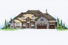Home Plan - European Exterior - Front Elevation Plan #5-462