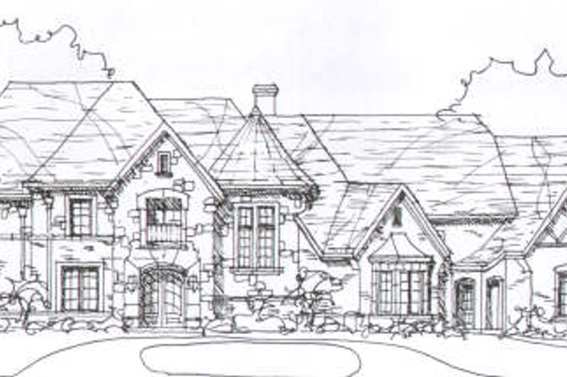 European Style House Plan - 4 Beds 4.5 Baths 5471 Sq/Ft Plan #141-226 Exterior - Front Elevation