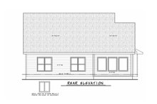 Home Plan - Traditional Exterior - Rear Elevation Plan #20-2396