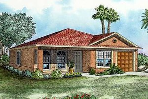 Cottage Exterior - Front Elevation Plan #420-102