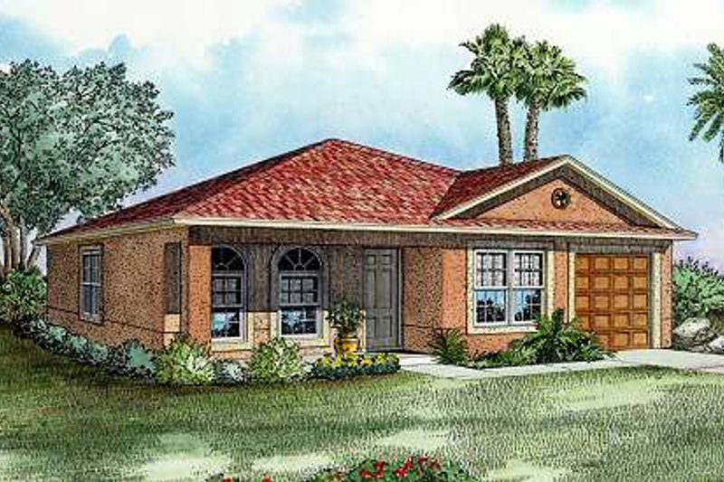 Cottage Style House Plan - 3 Beds 2 Baths 1243 Sq/Ft Plan #420-102 Exterior - Front Elevation