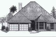 Colonial Style House Plan - 4 Beds 2.5 Baths 1883 Sq/Ft Plan #310-775 Exterior - Front Elevation