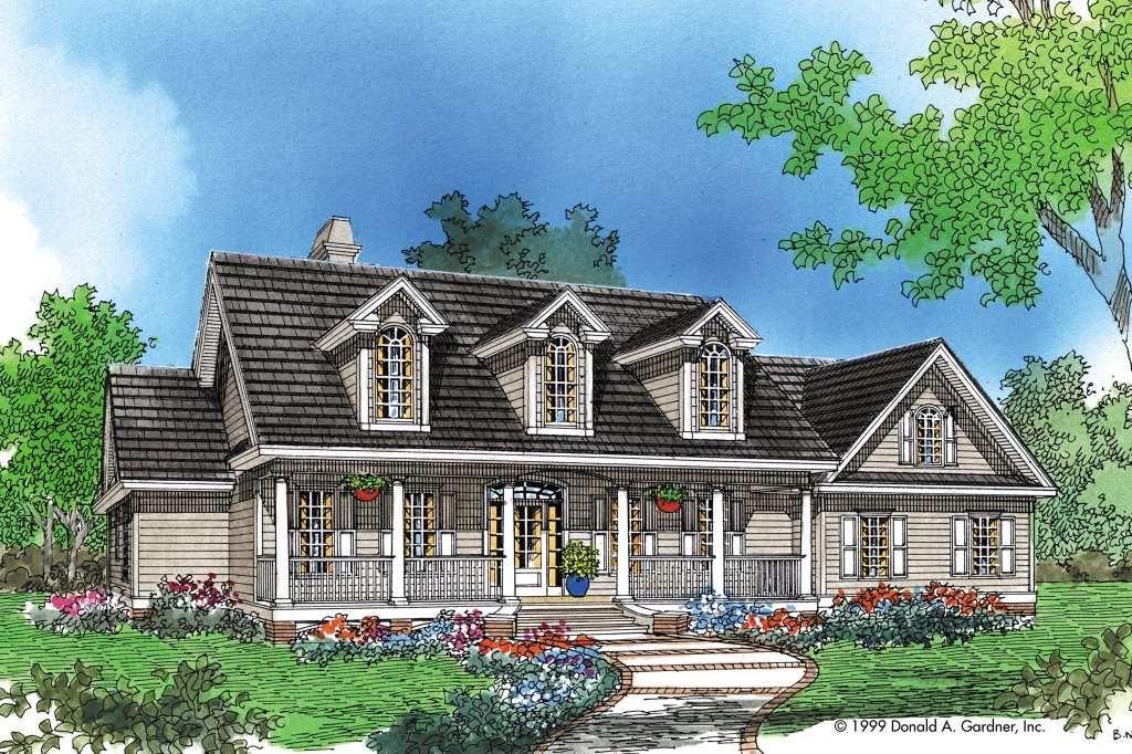 Country style house plan 4 beds 3 baths 2195 sq ft plan for Weinmaster house plans