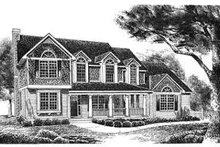 Country Exterior - Front Elevation Plan #70-348