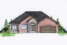 Ranch Exterior - Front Elevation Plan #5-241