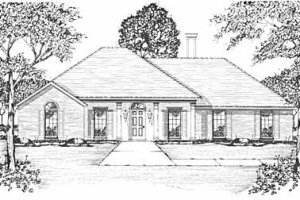 Exterior - Front Elevation Plan #36-324